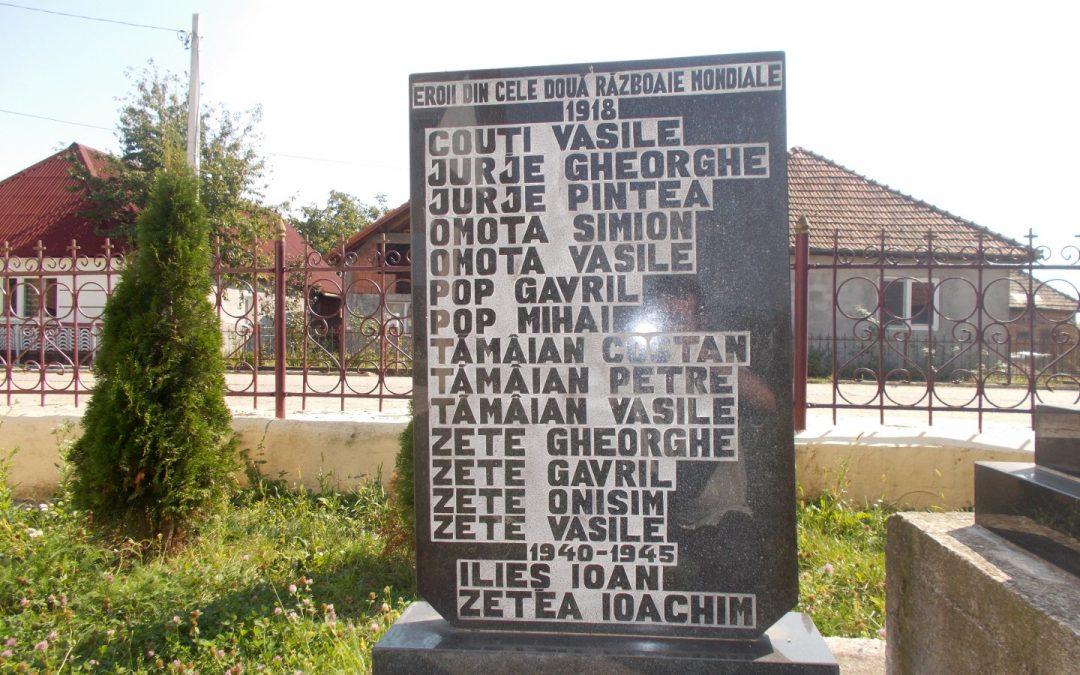 Monumentul Eroilor din cele Două Războaie Mondiale, Bârgău, comuna Cicârlău