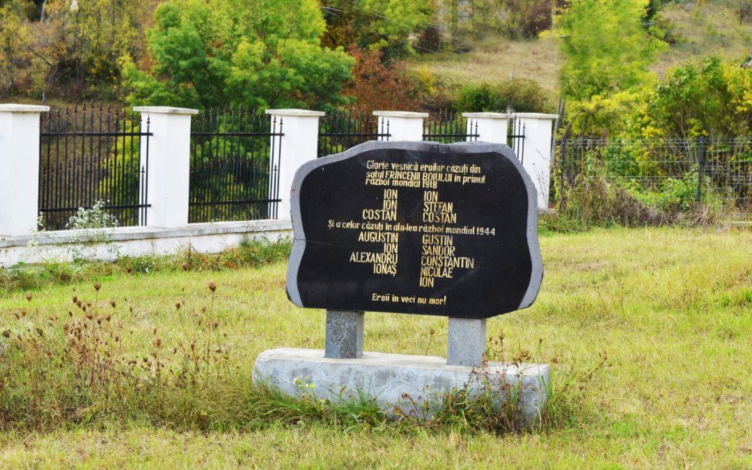 Frâncenii Boiului – Placă Comemorativă închinată Eroilor din cele Două Războaie Mondiale
