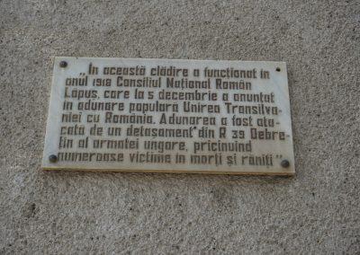 Târgu Lăpuș – Placă Memorială a Martirilor căzuți la Târgu Lăpuș în 5 decembrie 1918