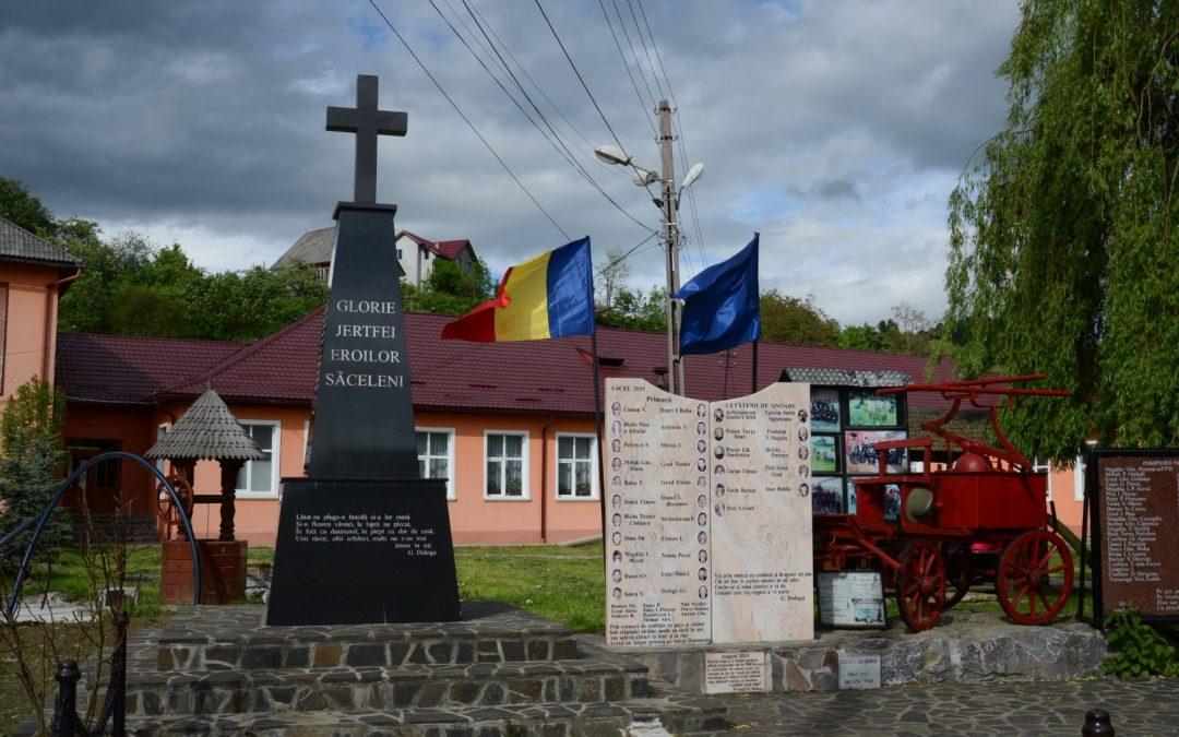 Săcel – Monumentul Eroilor din Primul și al Doilea Război Mondial