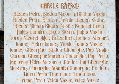 Sat Șugatag – Placă Comemorativă a Eroilor din Primul Război Mondial