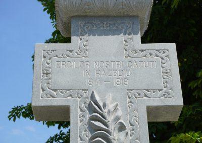Ulmeni – Cruce pentru cinstirea Eroilor din Primul Război Mondial