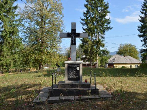 Unguraș – Cruce Monument în memoria Eroilor din cele Două Războaie Mondiale