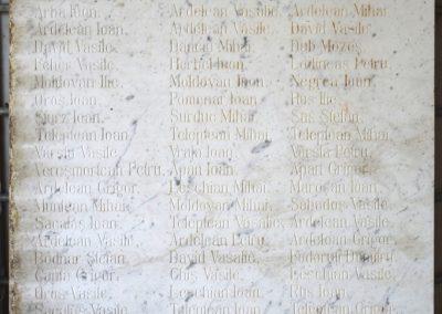 Vadu Izei – Placă Comemorativă a Eroilor din Primul Război Mondial