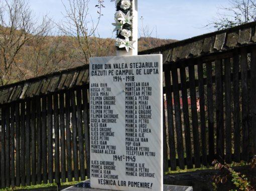 Valea Stejarului – Crucea Monument pentru Eroii căzuți pe câmpurile de luptă